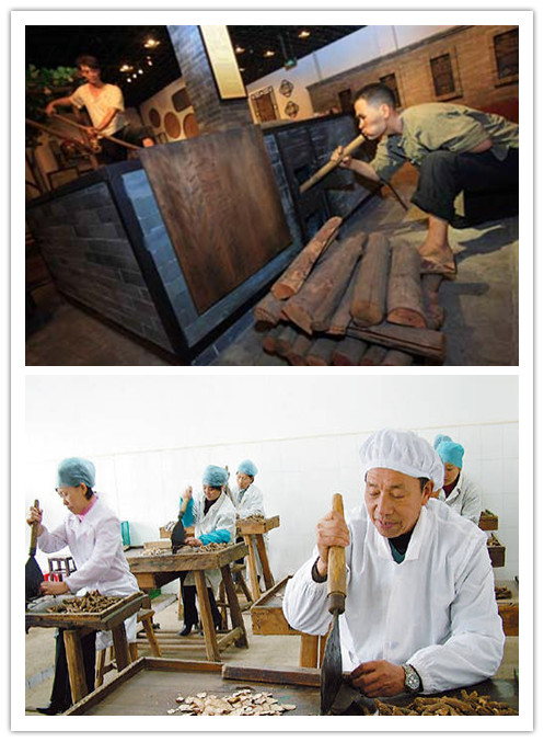 The processing of Chinese herbs